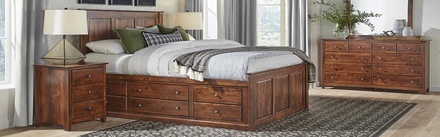 Bedroom Furniture, Beds, nightstand, chest, dresser